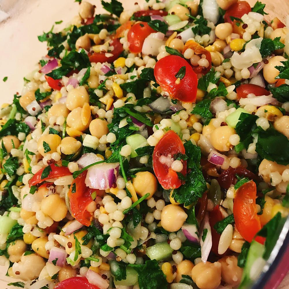 Healthy Vegan Multi-Grain Tabbouleh Recipe