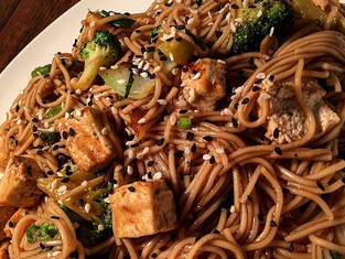 Tofu & Veggie Noodle Stir-Fry