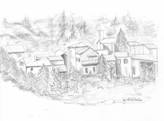 """""""Mon village"""" - Croquenligne 4"""