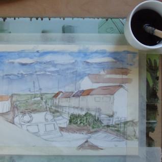 Temps de séchage - pause café Anne G.