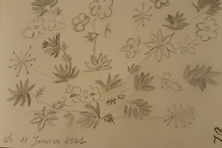 """""""Doodle fleurs"""""""