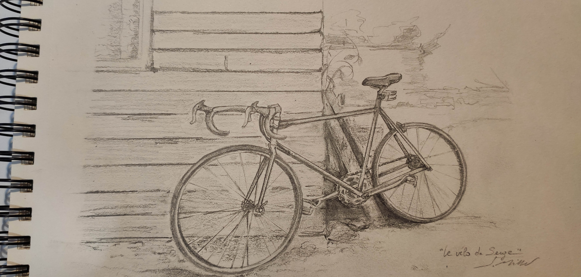 """""""Le vélo de Serge"""" -  Croquenligne 6 5"""