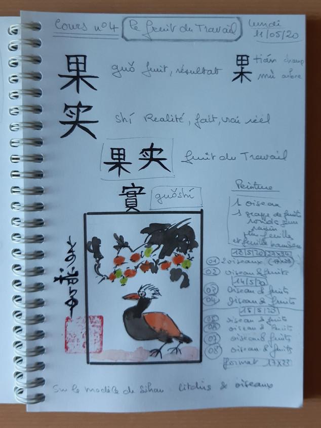 Page du carnet de Mireille M.