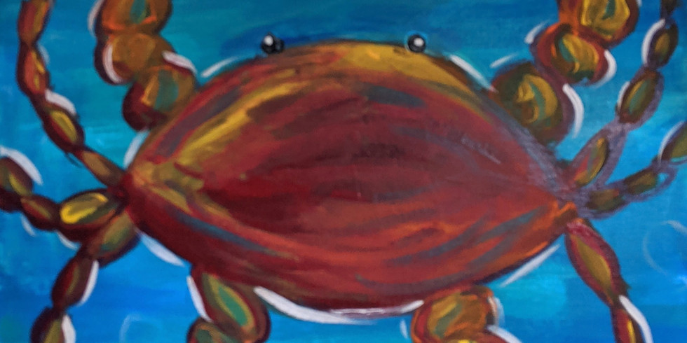 Virtual Canvas & Cocktails -- Crab