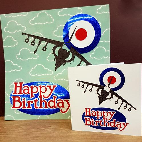 Harrier JumpJet Aircraft RAF Birthday Card