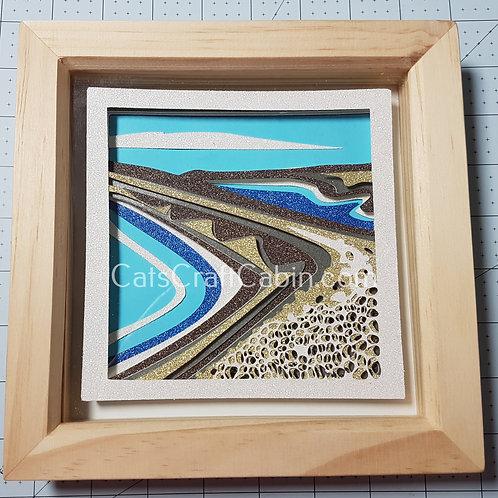 Chesil Beach/ Fleet Lagoon, Dorset. 3D Papercut layered Landscape