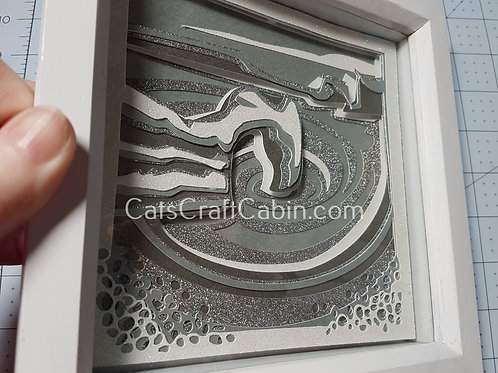 Durdle Door Dorset 3D Papercut layered Landscape