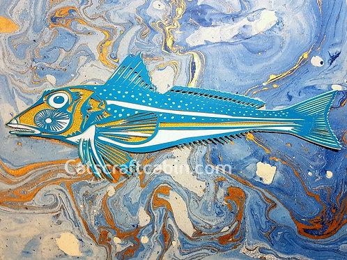 Gurnard Fish Papercut Art