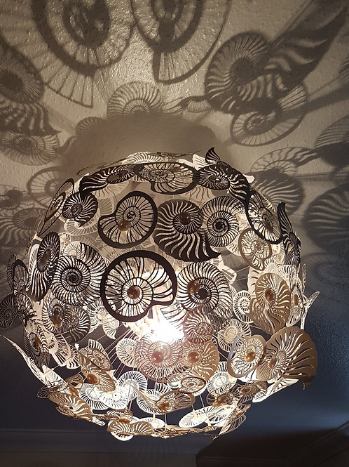 Ammonite Shadow Statement Lampshade PaperCut  Art