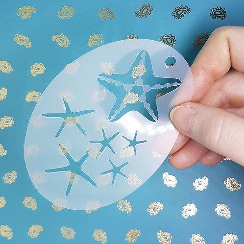 Starfish Sand Dollar Stencil