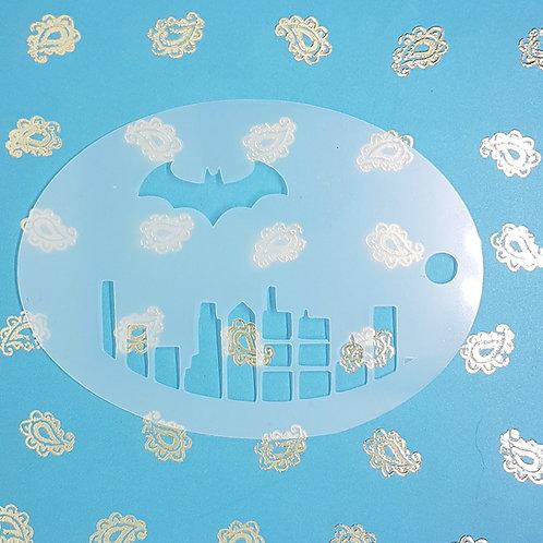 Bat City Comic Stencil