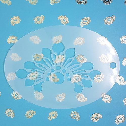 Deco Daisy Flower Forehead Stencil