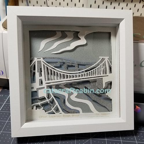 Clifton Suspension Bridge Bristol Brunel 3D Papercut layered Landscape Art