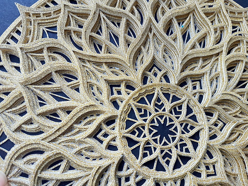 3D Layered Architectural PaperCut Mandala Wall Art
