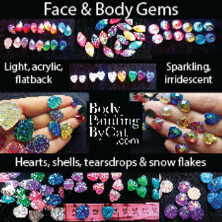Large Crystal Teardrop Bling Gems