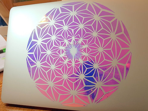 Floral Geometric - Laptop Decal Sticker
