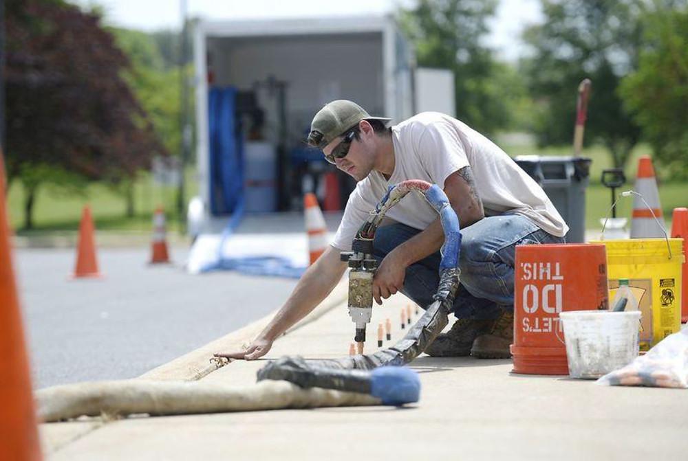 Foam Concrete Raising Baltimore - Foam Concrete Leveling Baltimore - Concrete Leveling - E & F Contracting
