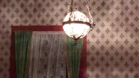 The classic ghost swinging a light fixture