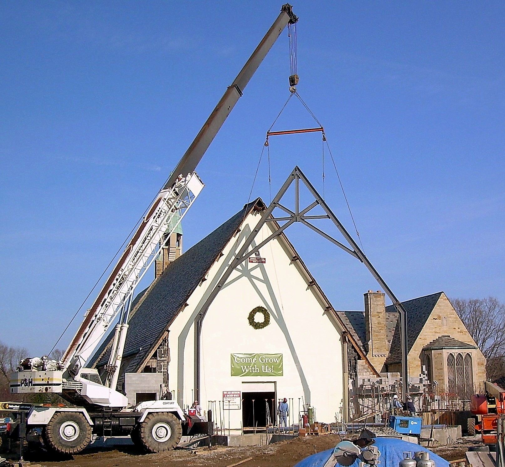 New Truss at St. Paul Episcopal