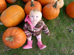 Cutie in the pumpkin patch
