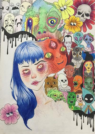 Tijana Mihajlovic - Colourful Lies - pen