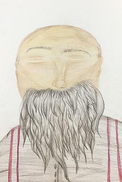 Bearded - Coloured pencil.jpg