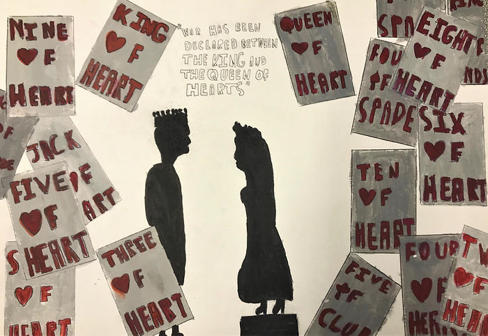 The true king and queen of hearts - Acry