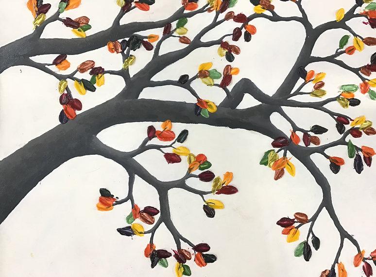 Autumn - Acrylic paint and impasto mediu