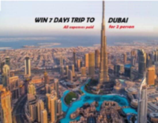 Lotto Free Trip to Dubai for 2