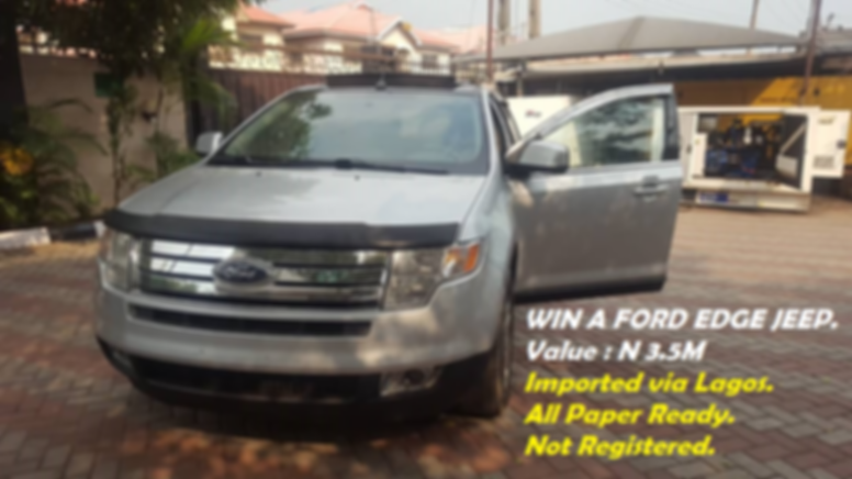 Lotto Tokunbo Ford Edge