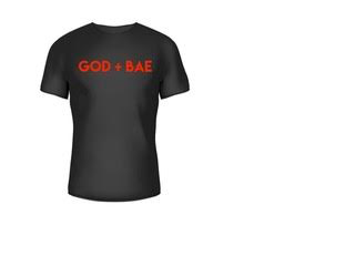 """GOD + BAE"" T-Shirt (Red)"