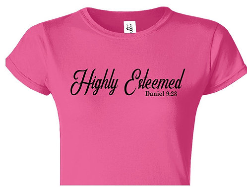 """Highly Esteemed (Daniel 9:23)"" Pink T-Shirt"