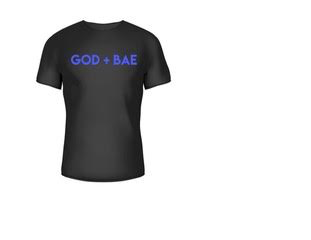 """GOD + BAE"" T-Shirt (Blue)"