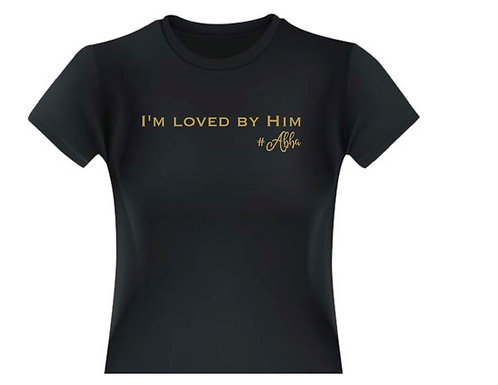 "Youth Girls ""I'm Loved by Him (Abba)"" Black T-Shirt"