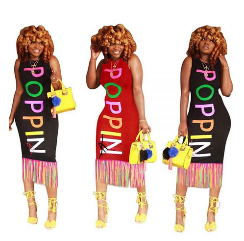 Poppin Dress with Fringes