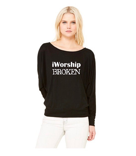 "Women's ""iWoship Broken"" Long Sleeve T-Shirt"