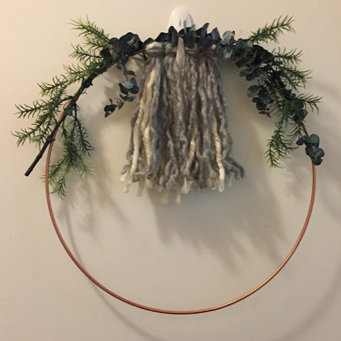 Fringe Wreath- Hanging