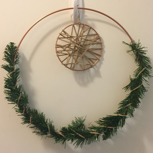 Double Ring Suede Wreath