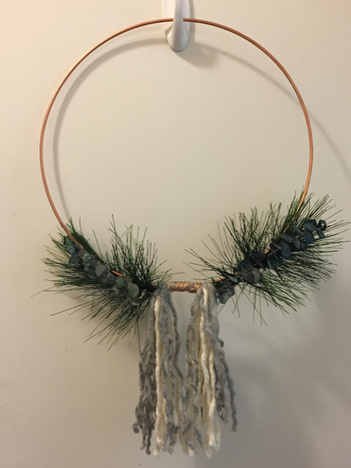 Copper Wrapped Tassle Wreath