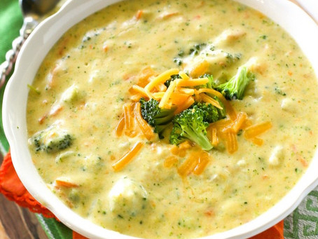 What's for dinner? Broccoli Cheese Soup #recipe