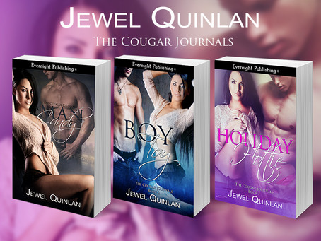 Welcome @JewelQuinlan discussing Holiday Hottie, The Cougar Journals, Book 3!