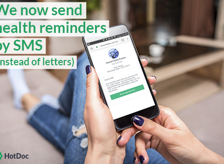 Recalls/ Clinical Reminders via secure SMS Notifications instead of letters