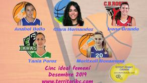 Millor Cinc Ideal femení Desembre 2019