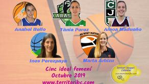 Millor Cinc Ideal femení Octubre 2019