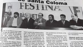 Records històrics: El primer gran patrocinador que va arribar i va marxar del basquetbol colomenc