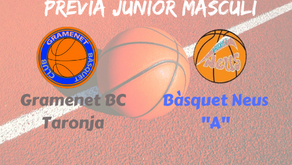 "Prèvia Derbi colomenc Junior masculí 2019-2020: Gramenet BC Taronja - Bàsquet Neus ""A"""