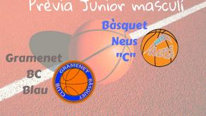 """Prèvia Derbi colomenc Junior masculí 2019-2020: Gramenet BC Blau - Bàsquet Neus """"C"""""""