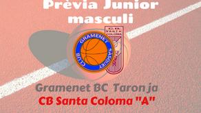 "Prèvia Derbi colomenc Junior masculí 2019-2020: Gramenet BC Taronja - CB Santa Coloma ""A"""