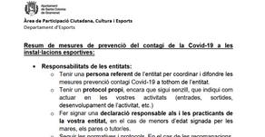 Comunicat de l'Ajuntament de Santa Coloma de Gramenet respecte a la pràctica esportiva actual