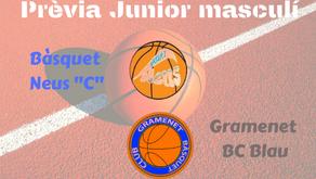 """Prèvia Derbi colomenc Junior masculí 2019-2020: Bàsquet Neus """"C"""" - Gramenet BC Blau"""